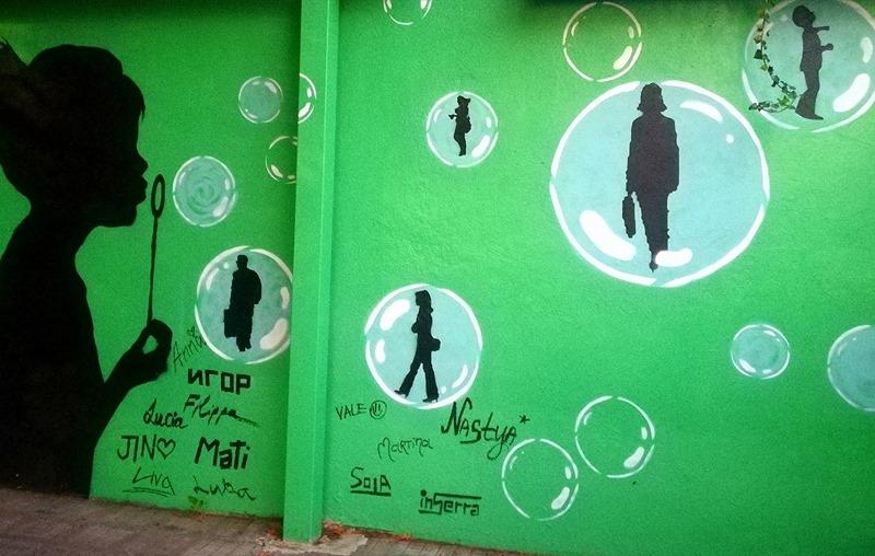 bolle stazione inserra pontecagnano graffiti street art legambiente