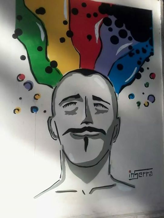 salerno inserra street art color head