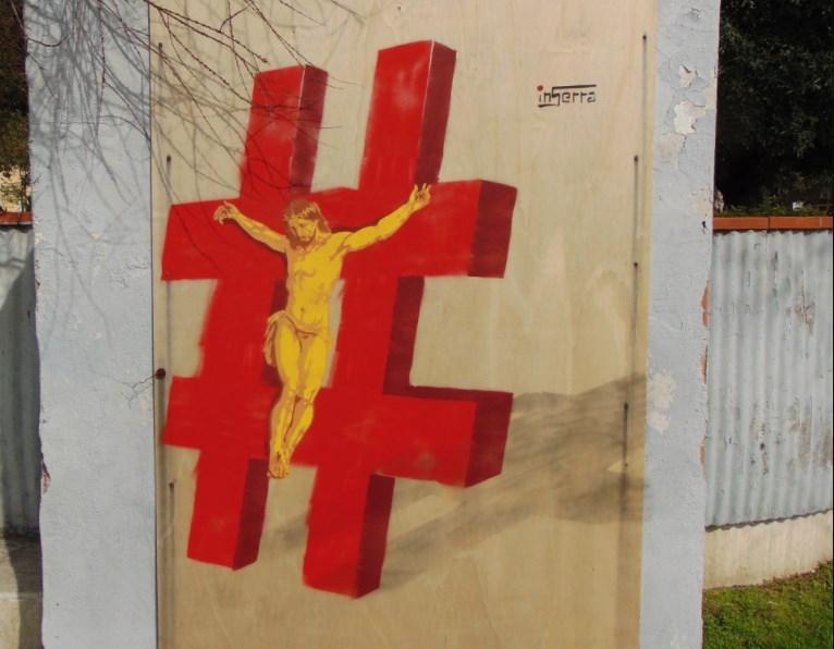 crocifisso moderno jesus gesù # inserra street art