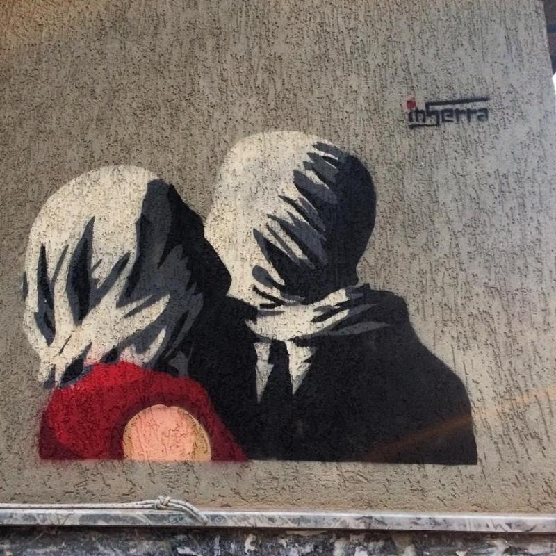graffiti inserra napoli magritte tribute