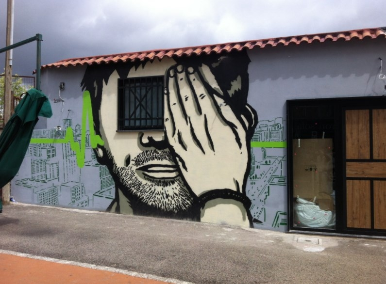 napoli street art inserra
