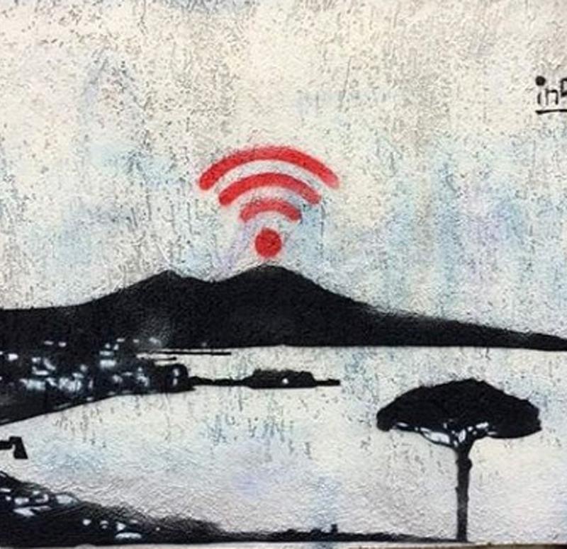 napoli wi fi. inserra street art campania art graffiti napoli