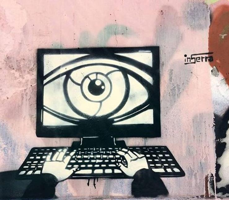 occhio al computer napoli murales napoli street art inserrapuntoeu inserra art