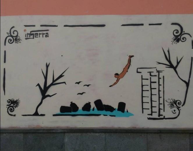 tuffatore inserra street art paestum murales art street pollution