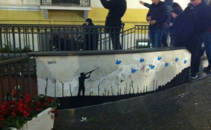 twitter cacciatore hinter inserra street art