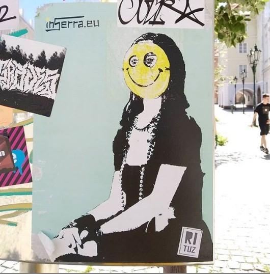giconda smile praga prague john lennon wall inserra street art