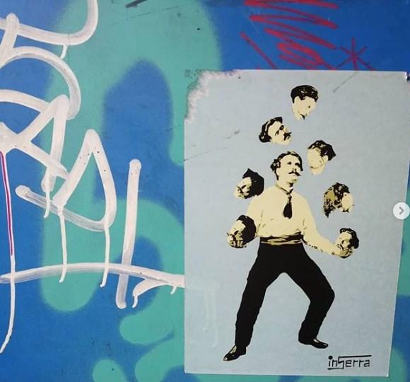 giocoliere inserra street art metro napoli