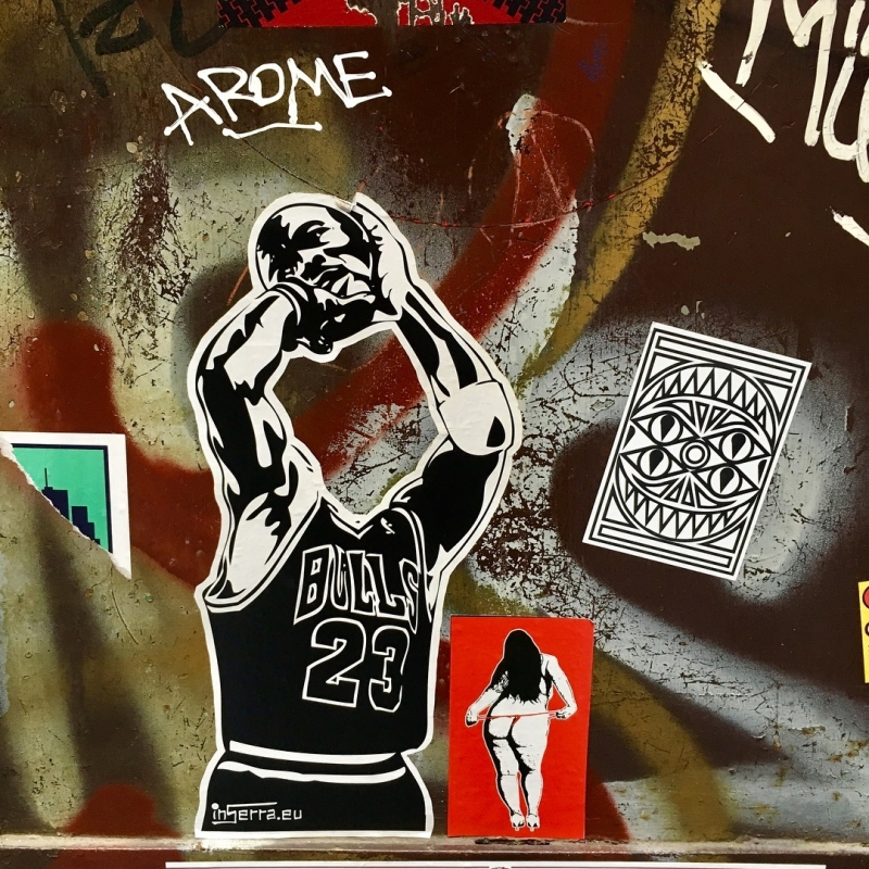 michael jordan napoli stickers street art inserra