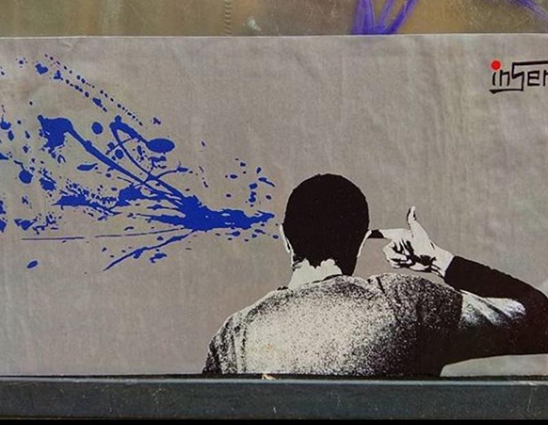 sparo in testa wroclaw street art inserra polonia street art stickers art